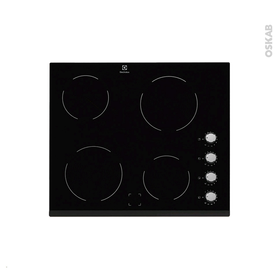 plaque de cuisson 4 feux vitroc ramique 60 cm verre noir electrolux ehv6140fok oskab. Black Bedroom Furniture Sets. Home Design Ideas