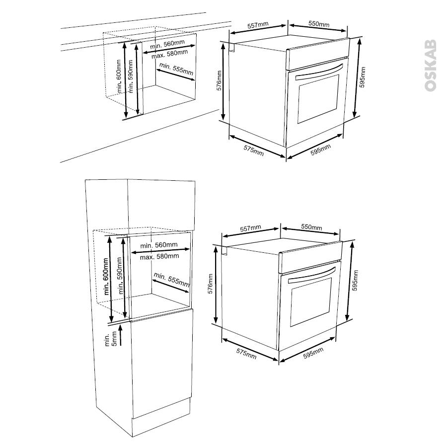 four encastrable pyrolyse multifonction 65l noir frionor. Black Bedroom Furniture Sets. Home Design Ideas