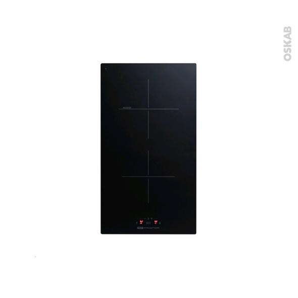 Plaque de cuisson 2 feux induction 29 cm verre noir frionor pi29 oskab Plaque induction 2 feux