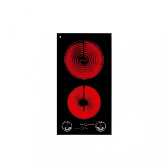 plaque de cuisson 2 feux vitroc ramique verre noir frionor. Black Bedroom Furniture Sets. Home Design Ideas