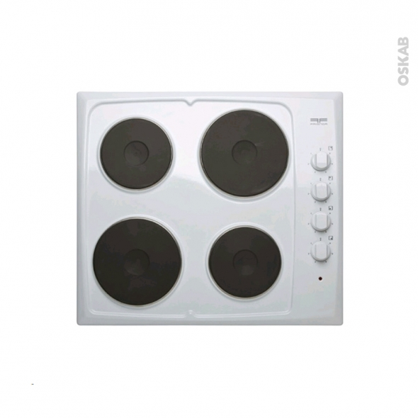 Finest plaque de cuisson feux electrique cm blanc frionor - Meuble pour plaque de cuisson ikea ...