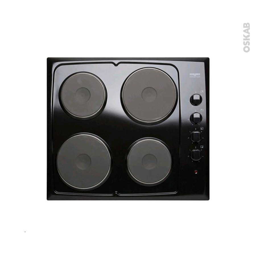 plaque de cuisson 4 feux electrique 60 cm noir frionor genofri oskab. Black Bedroom Furniture Sets. Home Design Ideas