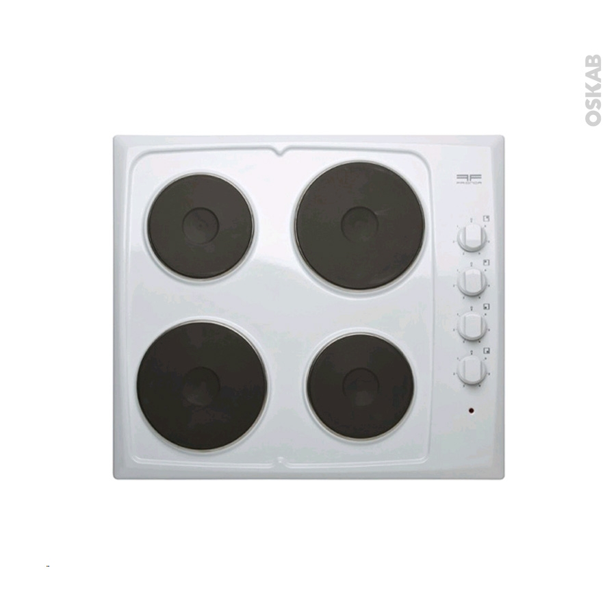 plaque lectrique 4 foyers l60cm blanc frionor geblfri oskab. Black Bedroom Furniture Sets. Home Design Ideas