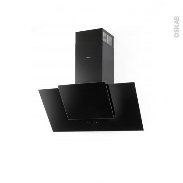 hotte de cuisine aspirante inclin e 60 cm noire silverline. Black Bedroom Furniture Sets. Home Design Ideas