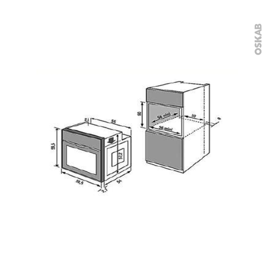 Four encastrable catalyse multifonction 65l inox whirlpool - Four catalyse whirlpool akp 264 ...