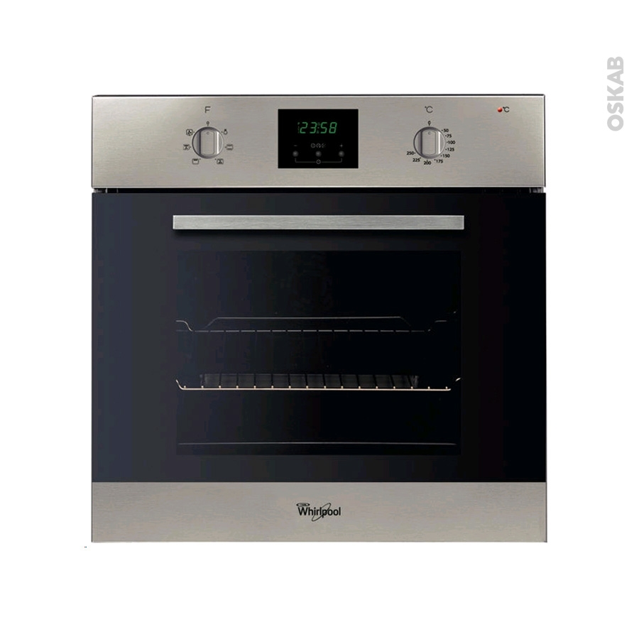 Four encastrable catalyse multifonction 65l inox whirlpool for Cuisine oskab