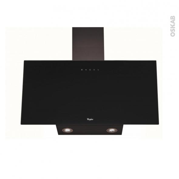 hotte de cuisine aspirante inclin e 80 cm noire whirlpool akr039gbl oskab. Black Bedroom Furniture Sets. Home Design Ideas