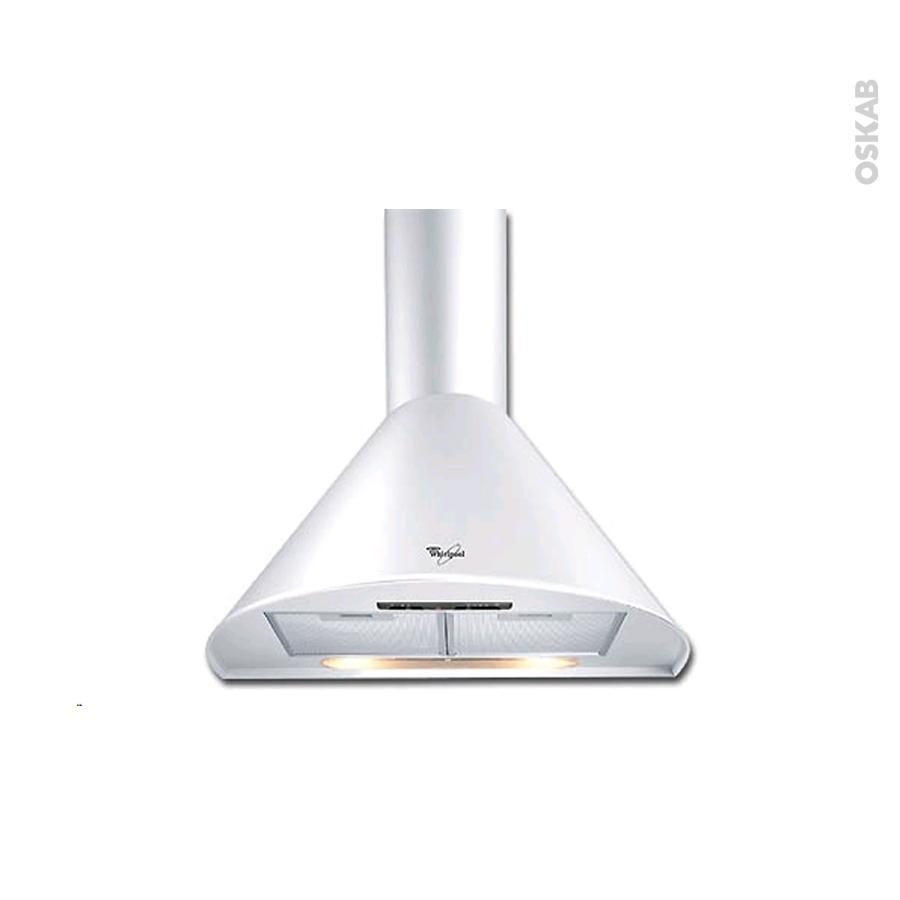 Hotte de cuisine aspirante pyramide 60cm blanc whirlpool - Hotte de cuisine whirlpool ...