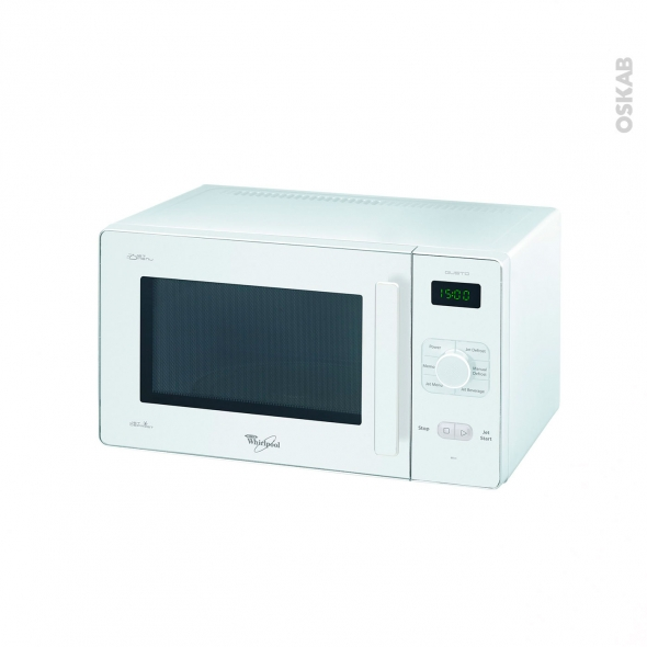 micro ondes pose libre 25l blanc whirlpool gt281wh oskab. Black Bedroom Furniture Sets. Home Design Ideas