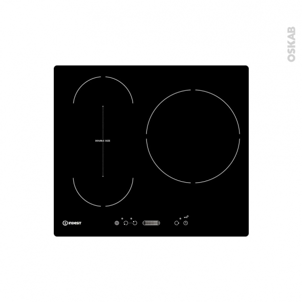 plaque de cuisson 3 feux induction 60 cm verre noir indesit vis 631 bl f oskab. Black Bedroom Furniture Sets. Home Design Ideas