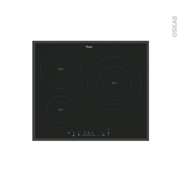 plaque de cuisson 3 feux induction 60 cm verre noir whirlpool acm865ba new oskab. Black Bedroom Furniture Sets. Home Design Ideas