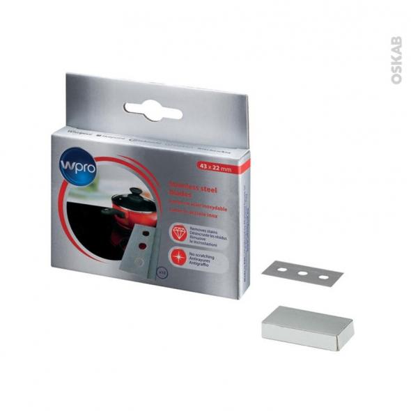 lames pour grattoir vitroc ramique induction pack de 10 bla014 wpro oskab. Black Bedroom Furniture Sets. Home Design Ideas
