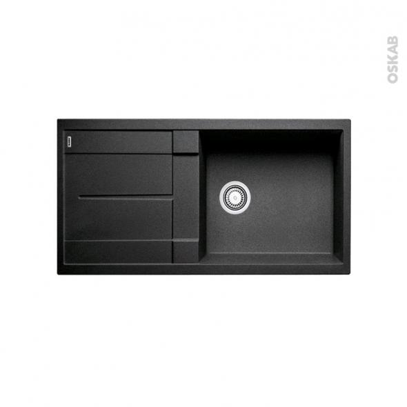 evier de cuisine metra xl6s granit anthracite 1 grand bac gouttoir encastrer blanco oskab. Black Bedroom Furniture Sets. Home Design Ideas