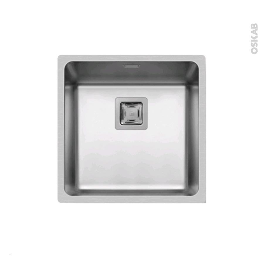 evier de cuisine lago inox lisse 1 cuve carr 44 x 44 cm. Black Bedroom Furniture Sets. Home Design Ideas