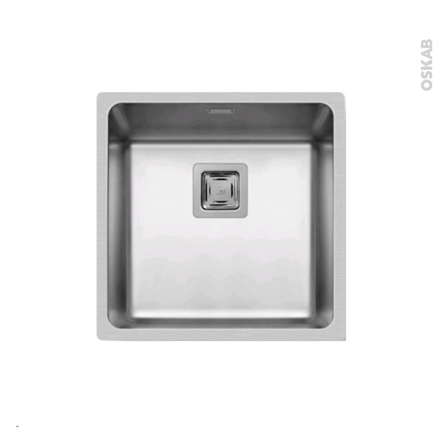 Evier De Cuisine Lago Inox Lisse 1 Cuve Carr 44 X 44 Cm