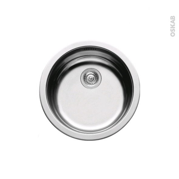 Cool evier de cuisine nera inox antirayures cuve ronde cm for Evier cuve ronde resine