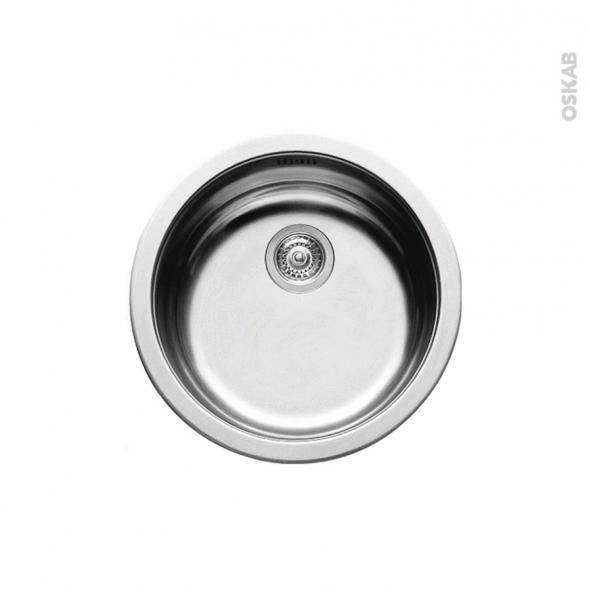 evier de cuisine nera inox anti rayures 1 cuve ronde 45 cm encastrer oskab. Black Bedroom Furniture Sets. Home Design Ideas