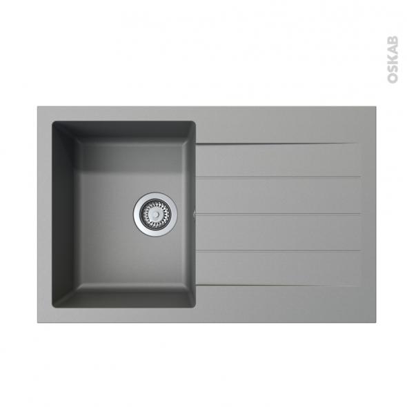evier helio granit gris 1 bac gouttoir encastrer. Black Bedroom Furniture Sets. Home Design Ideas