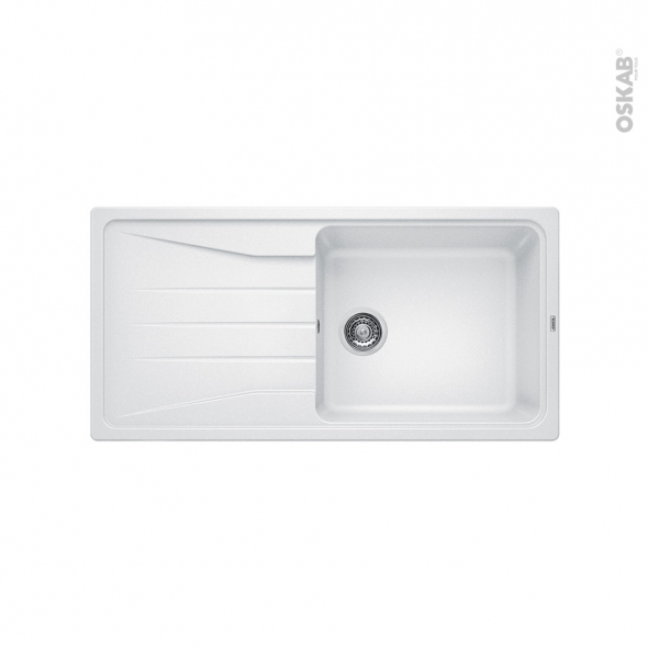 evier de cuisine sona xl 6s granit blanc 1 grand bac gouttoir encastrer blanco oskab. Black Bedroom Furniture Sets. Home Design Ideas