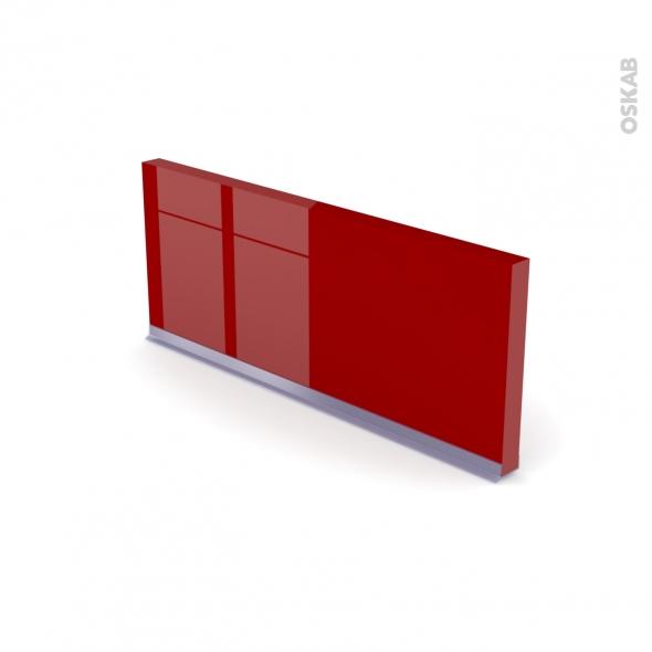 plinthe de cuisine stecia rouge avec joint d 39 tanch it l220xh14 4 oskab. Black Bedroom Furniture Sets. Home Design Ideas