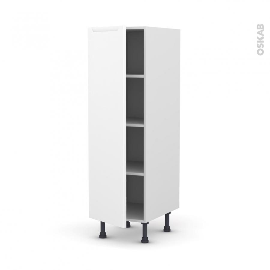 Colonne de cuisine n 26 armoire tag re pima blanc 1 porte - Armoire colonne 1 porte ...