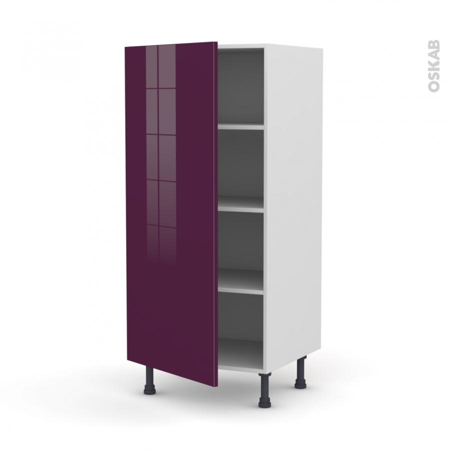 Colonne de cuisine n 27 armoire tag re keria aubergine 1 - Armoire colonne 1 porte ...