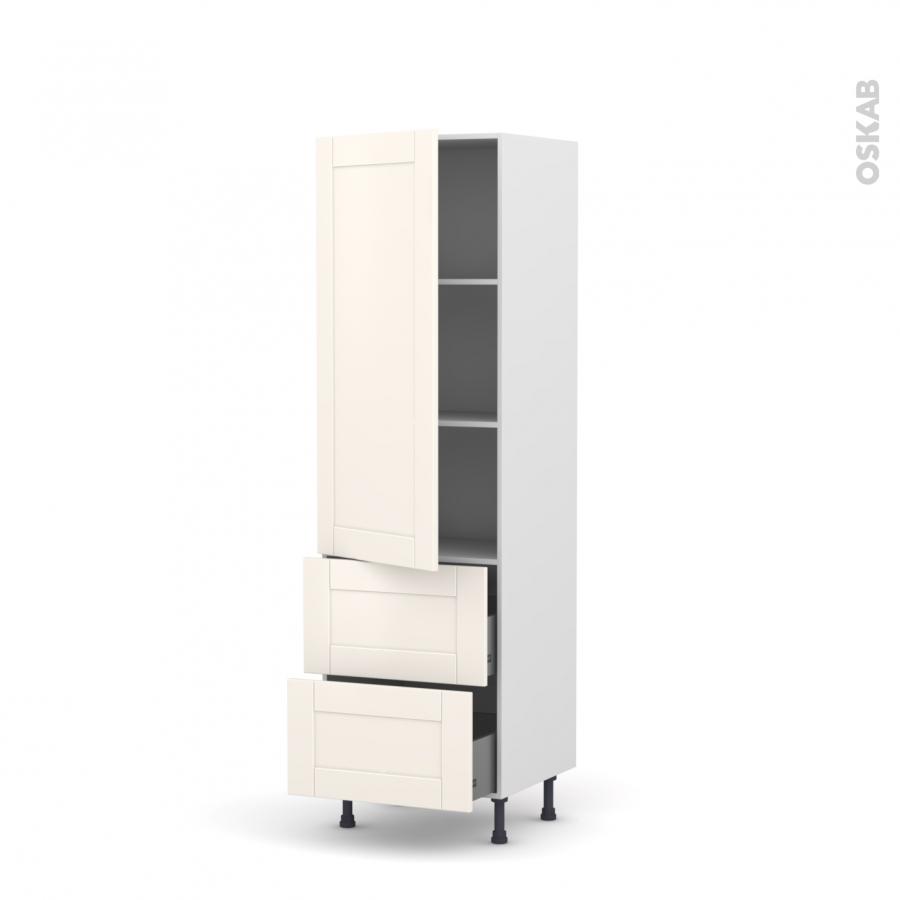 Colonne de cuisine n 2757 armoire tag re filipen ivoire 2 - Armoire colonne cuisine ...