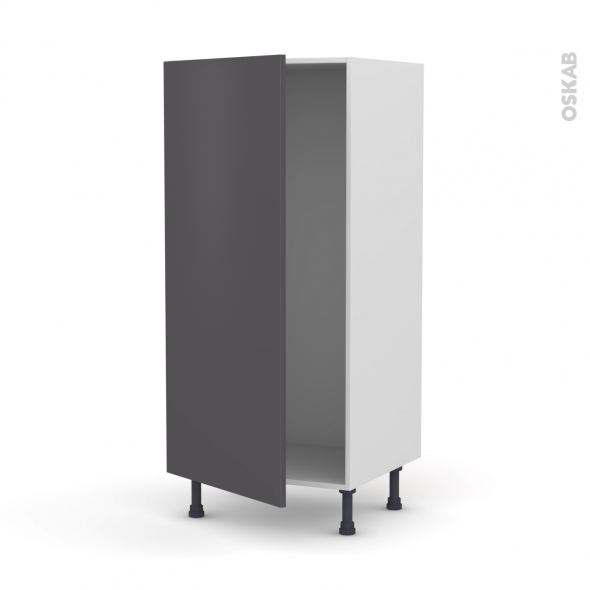 colonne de cuisine n 27 armoire frigo encastrable ginko gris 1 porte l60 x h125 x p58 cm oskab. Black Bedroom Furniture Sets. Home Design Ideas