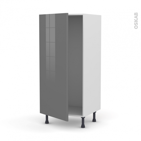 armoire frigo n 27 1 porte l60xh125xp58 stecia gris oskab. Black Bedroom Furniture Sets. Home Design Ideas