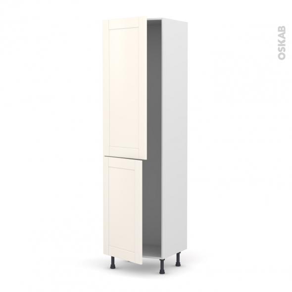 Colonne de cuisine n 2724 frigo encastrable 1 porte filipen ivoire 2 portes l60 x h217 x p58 cm for Modele cuisine encastrable