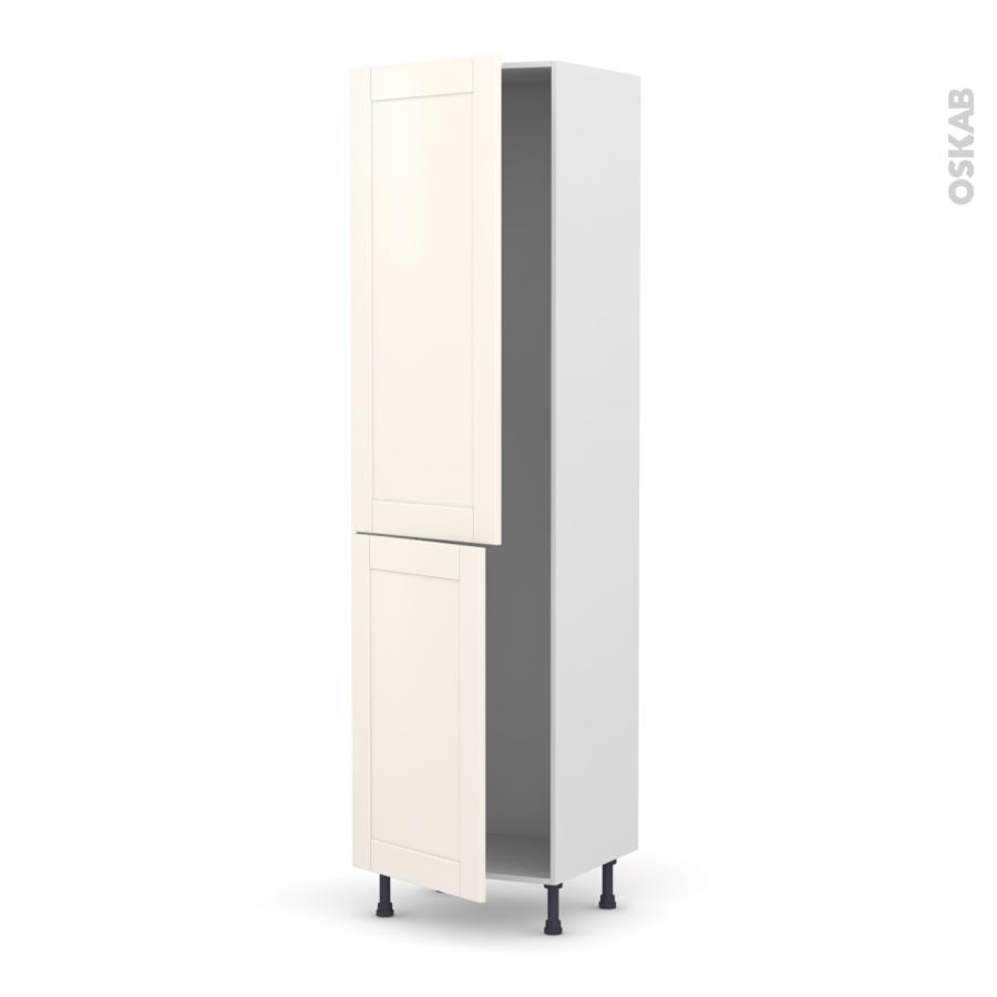 colonne de cuisine n 2724 frigo encastrable 1 porte filipen ivoire 2 portes l60 x h217 x p58 cm. Black Bedroom Furniture Sets. Home Design Ideas