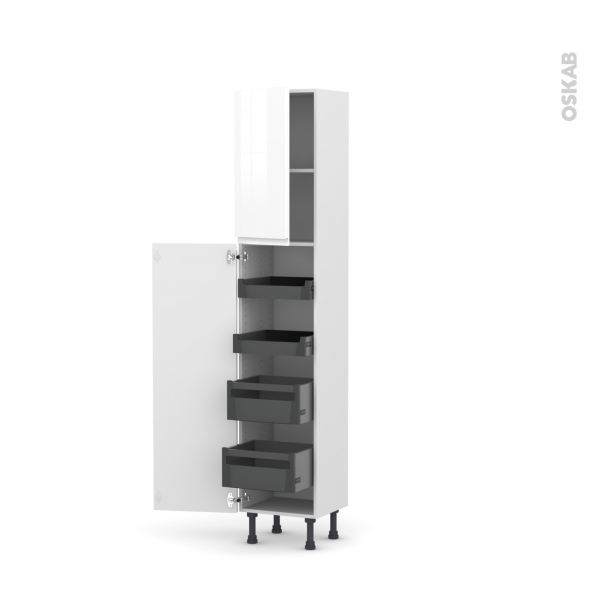 colonne de cuisine n 1926 armoire de rangement ipoma blanc. Black Bedroom Furniture Sets. Home Design Ideas