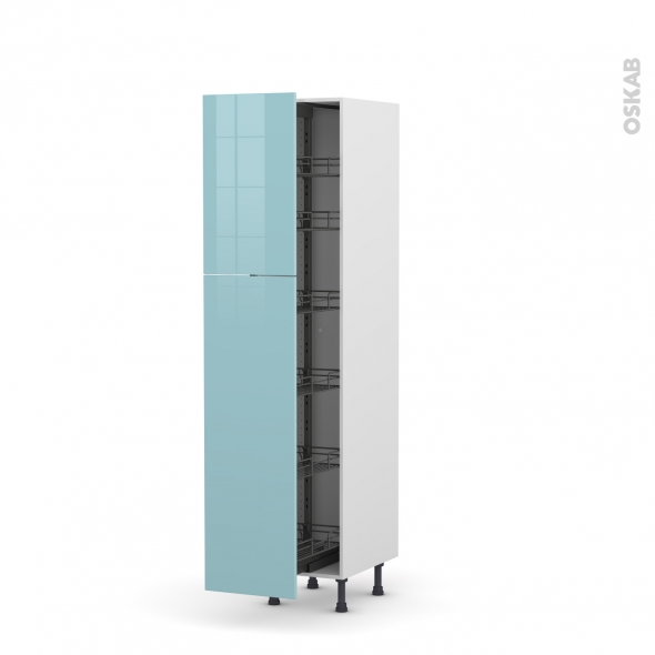 colonne de cuisine n 2619 armoire de rangement keria bleu. Black Bedroom Furniture Sets. Home Design Ideas