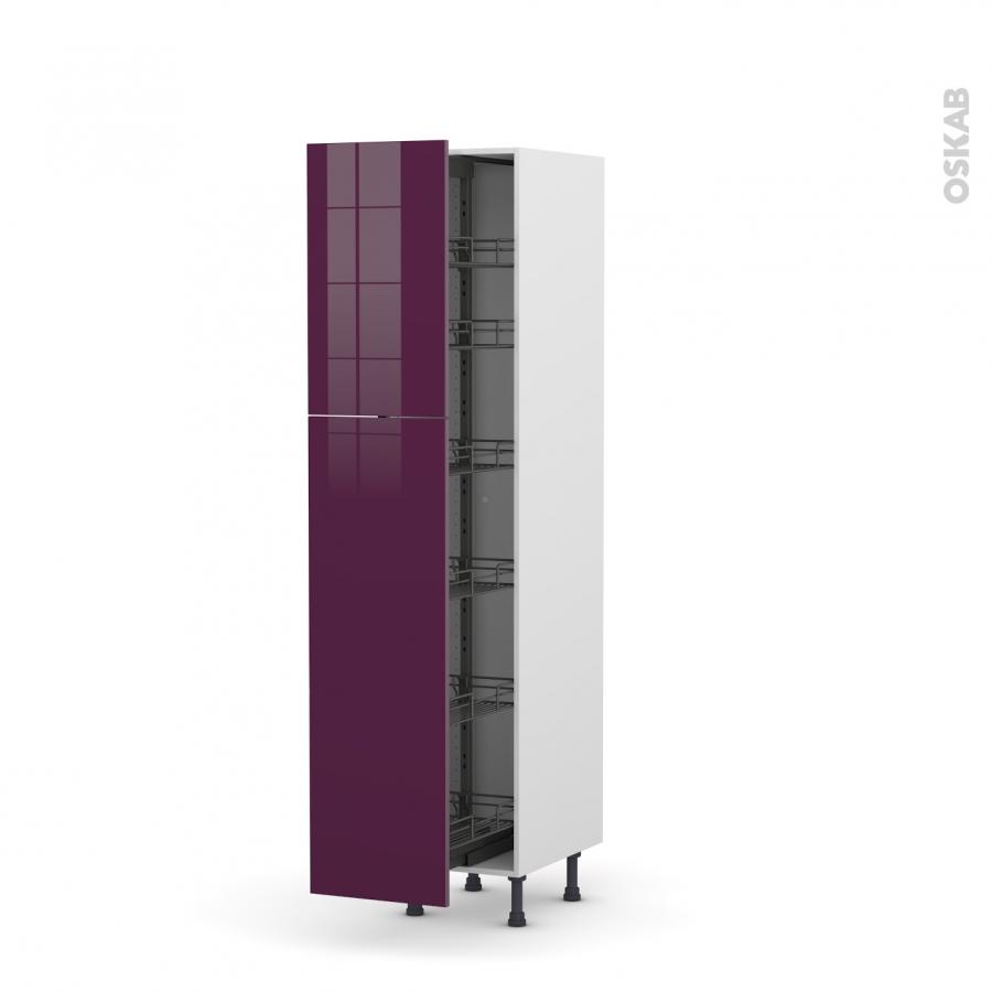 Colonne de cuisine n 2619 armoire de rangement keria for Armoire colonne cuisine