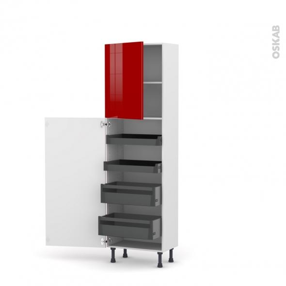 Colonne de cuisine n 2127 armoire de rangement stecia for Colonne de rangement a tiroirs
