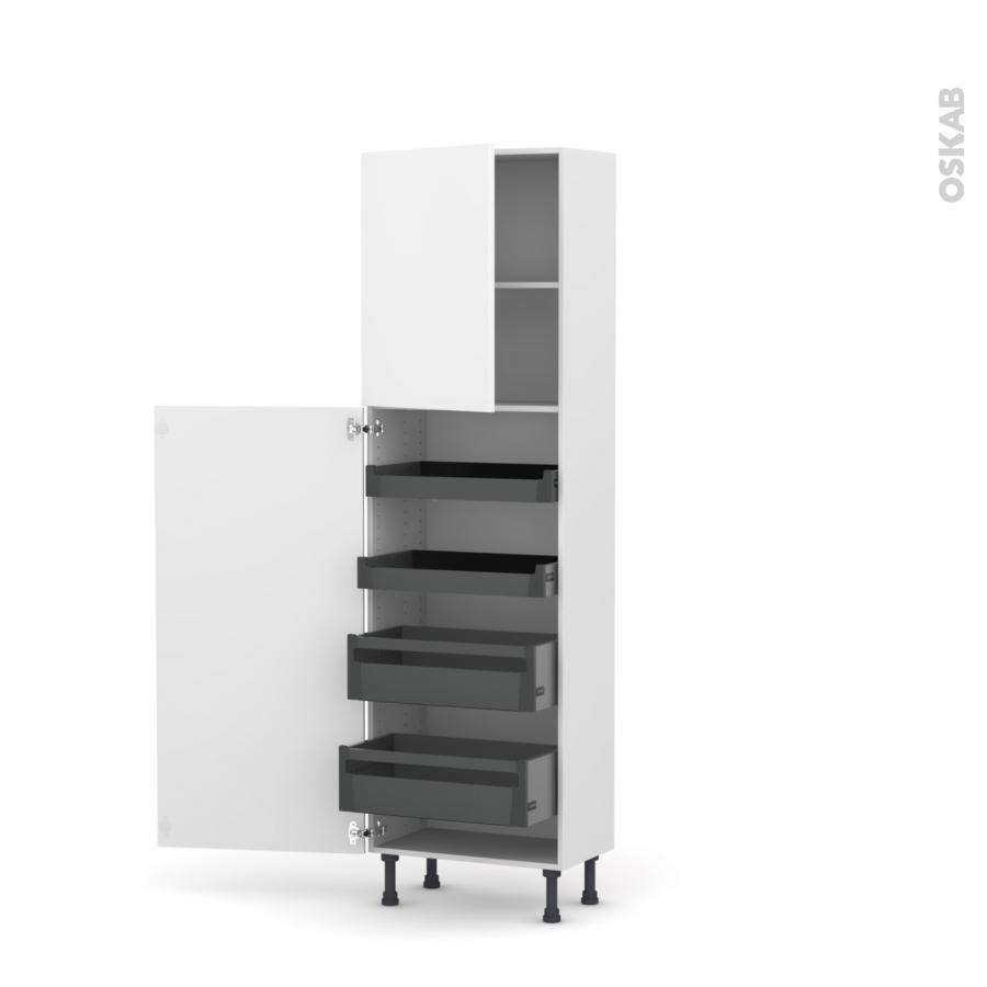 colonne de cuisine n 2127 armoire de rangement ginko blanc. Black Bedroom Furniture Sets. Home Design Ideas