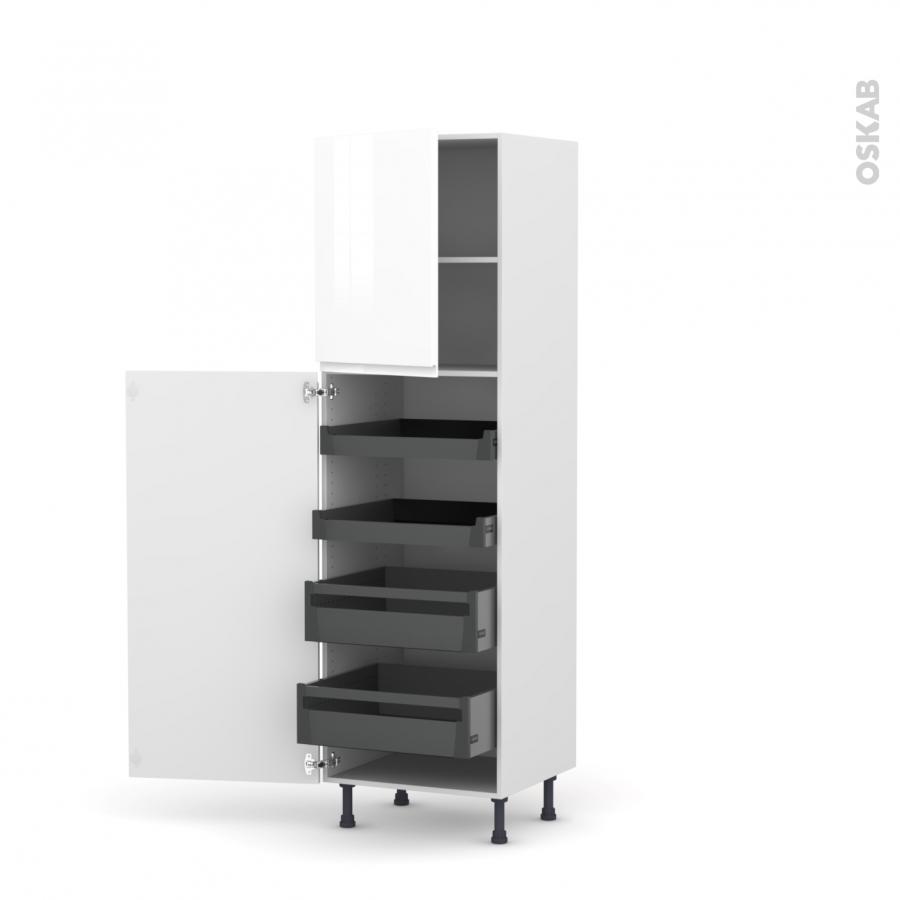 colonne de cuisine n 2127 armoire de rangement ipoma blanc. Black Bedroom Furniture Sets. Home Design Ideas
