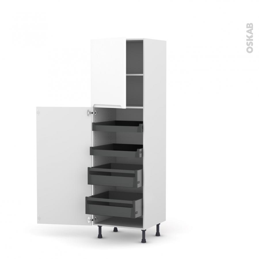 colonne de cuisine n 2127 armoire de rangement pima blanc. Black Bedroom Furniture Sets. Home Design Ideas