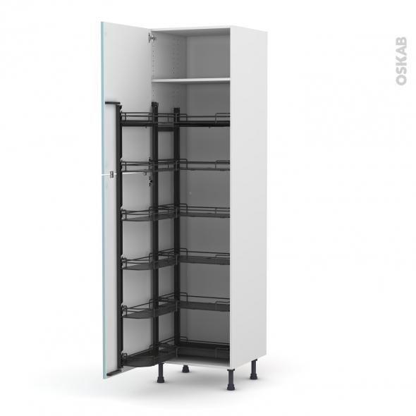Colonne de cuisine n 2724 armoire de rangement keria bleu - Colonne de rangement cuisine ...