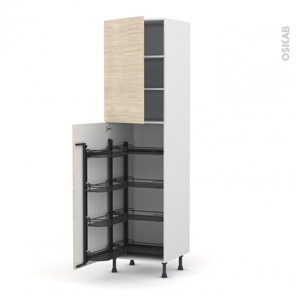 Colonne de cuisine n 2427 armoire de rangement stilo noyer for Armoire colonne cuisine