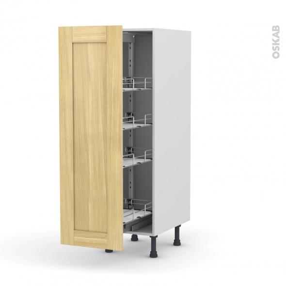 armoire rangement n 26 4 paniers plateaux l40xh125xp58 basilit bois brut oskab. Black Bedroom Furniture Sets. Home Design Ideas