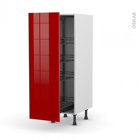 Colonne de cuisine n 26 armoire de rangement stecia rouge for Armoire colonne cuisine