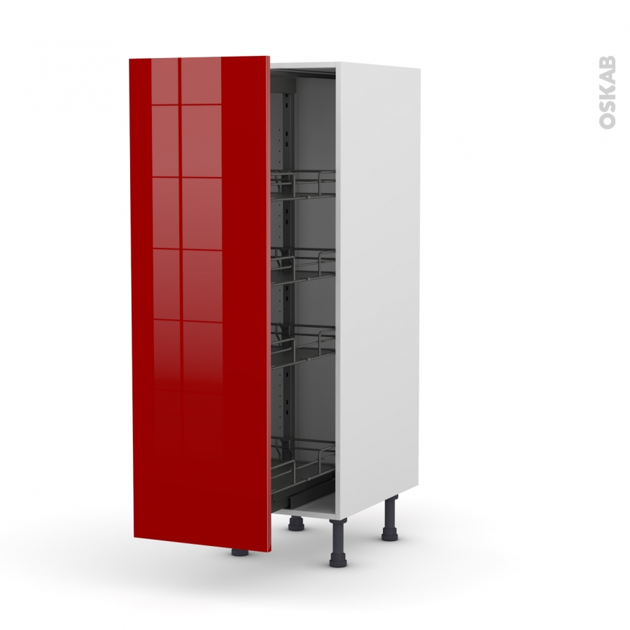 colonne de cuisine n 26 armoire de rangement stecia rouge. Black Bedroom Furniture Sets. Home Design Ideas