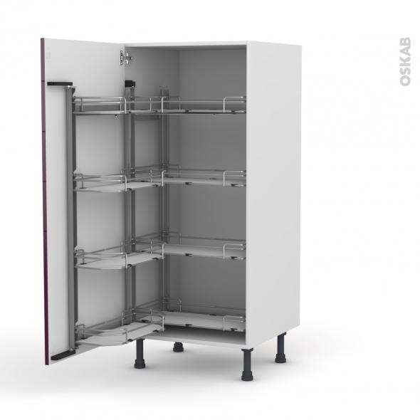 armoire rangement n 27 8 paniers plateau l60xh125xp58 keria aubergine oskab. Black Bedroom Furniture Sets. Home Design Ideas