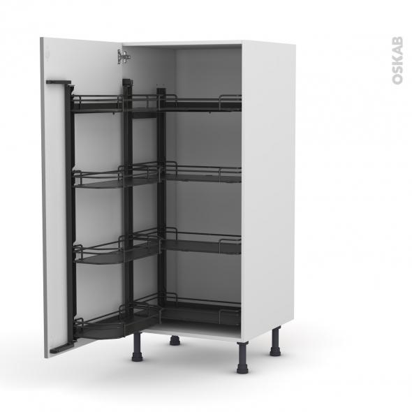 Colonne de cuisine n 27 armoire de rangement filipen gris for Colonne cuisine 30 cm
