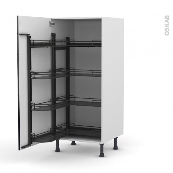 colonne de cuisine n 27 armoire de rangement keria noir 8. Black Bedroom Furniture Sets. Home Design Ideas
