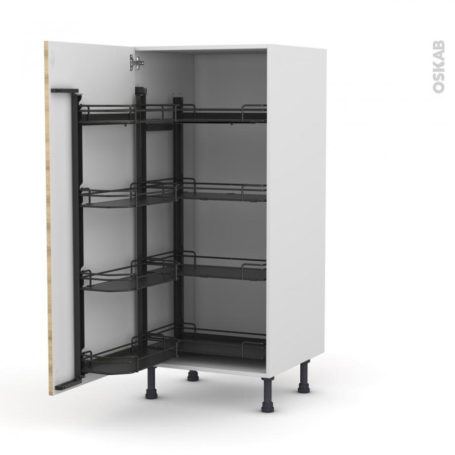 colonne de cuisine n 27 armoire de rangement hosta ch ne naturel 8 paniers plateaux l60 x h125 x. Black Bedroom Furniture Sets. Home Design Ideas