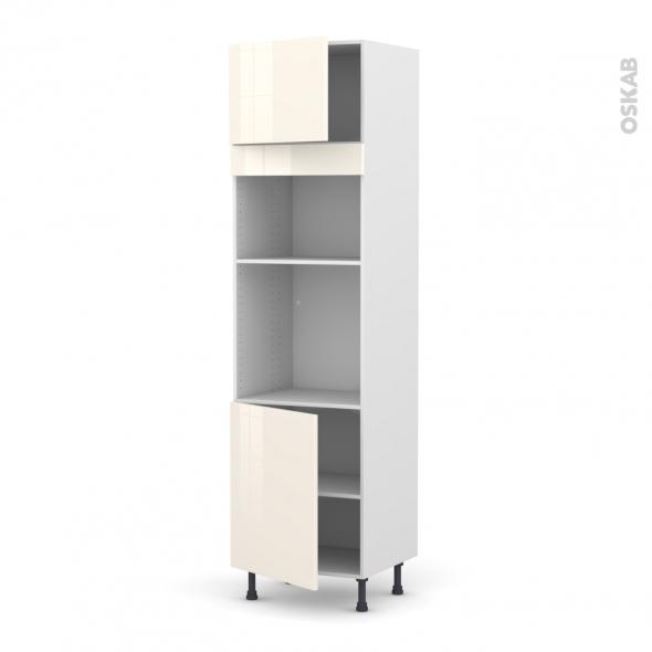 colonne de cuisine n 1321 four mo encastrable niche 36 38 keria ivoire 2 portes l60 x h217 x p58. Black Bedroom Furniture Sets. Home Design Ideas