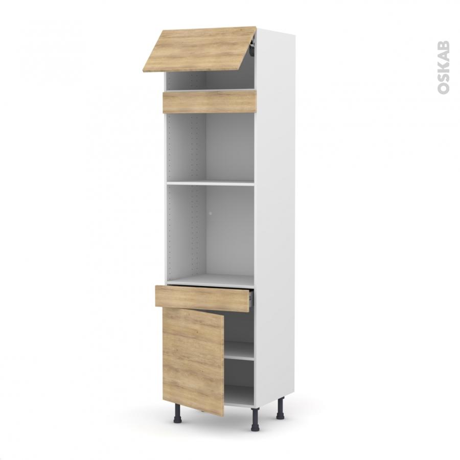 Colonne de cuisine n 1056 four mo encastrable niche 45 for Four porte tiroir