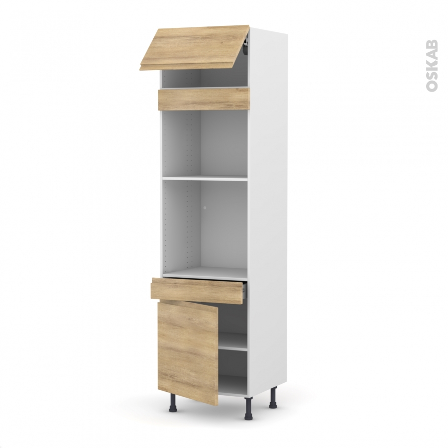 Colonne de cuisine n 1056 four mo encastrable niche 45 Boitier relevant pour double porte de meuble cuisine